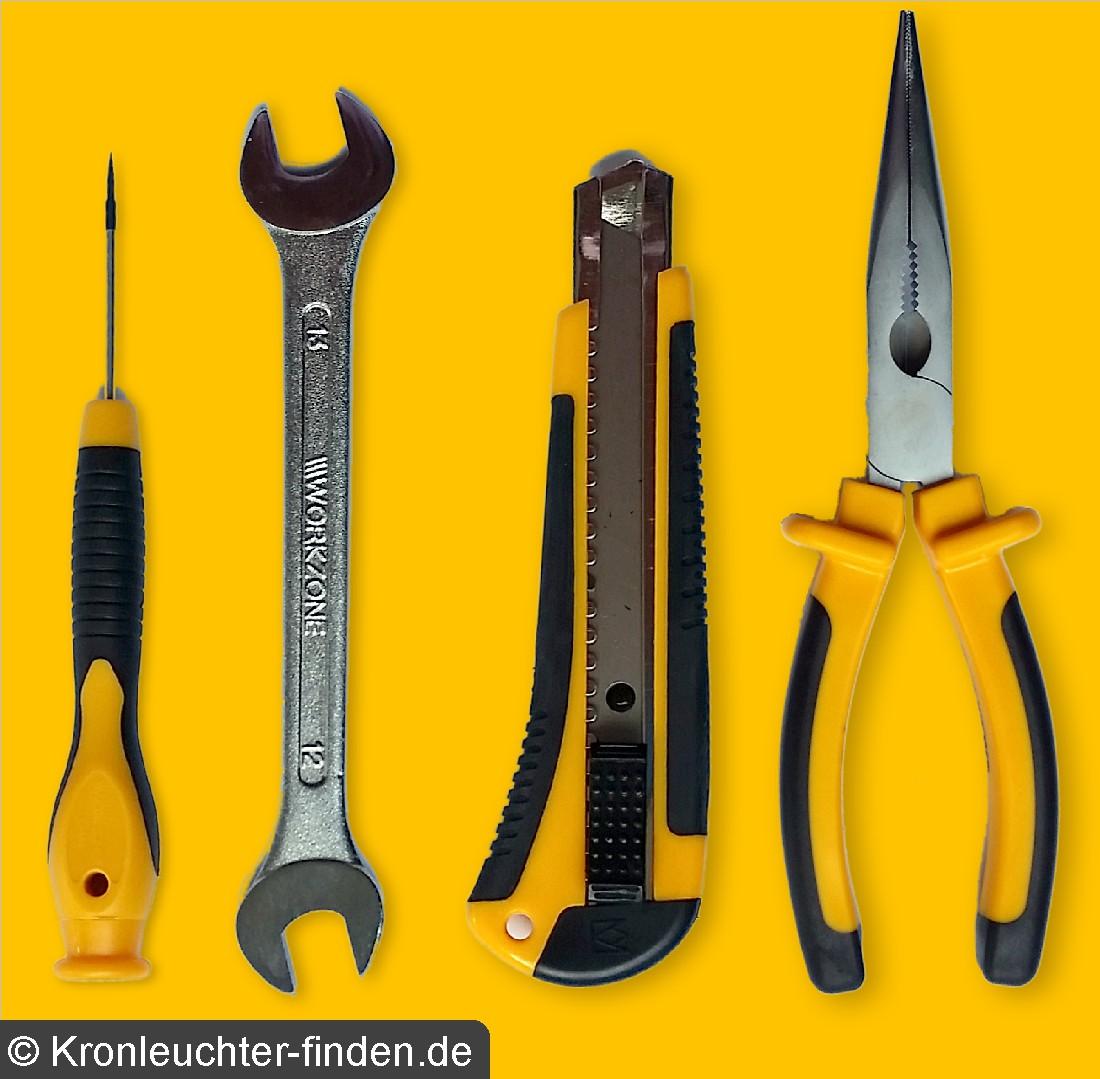 Werkzeug zum Kronleuchter zusammenbauen