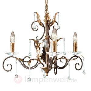 antiker kronleuchter bronze gold 73 cm kronleuchter. Black Bedroom Furniture Sets. Home Design Ideas